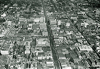 1938 Looking east at Hollywood, down Hollywood Blvd.
