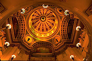 Pennsylvania Capitol Rotunda Dome, Architect Joseph Huston, Harrisburg, PA