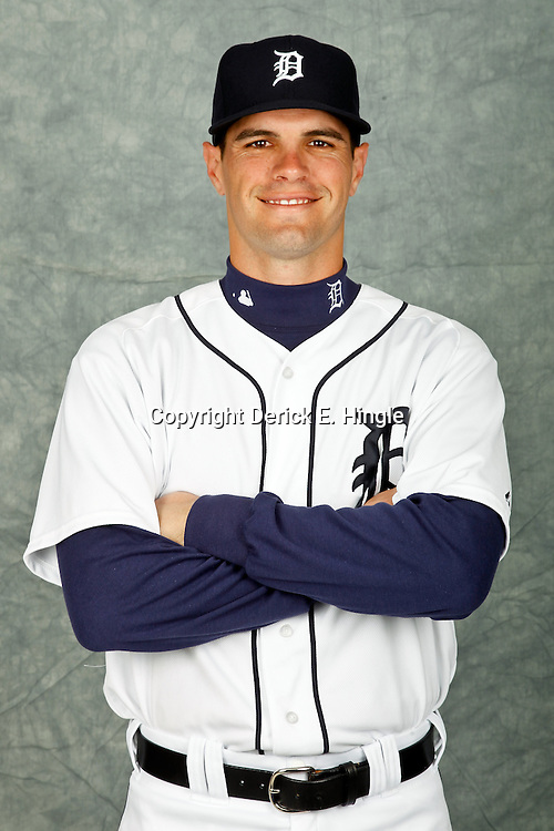 February 28, 2012; Lakeland, FL, USA; Detroit Tigers left fielder Justin Henry (78) poses for photo day in the rec room at the Detroit Tigers Headquarters.  Mandatory Credit: Derick E. Hingle-US PRESSWIRE
