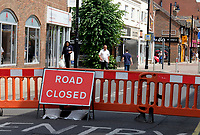 the high street in Eastleigh has been made  temporary pedestrian zone  as shops reopen  photo by dawn fletcher-park