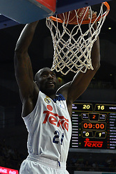 May 31, 2017 - Madrid, Madrid, Spain - Othello Hunter, #21 of Real Madrid in action during the first game of the semifinals of basketball Endesa league between Real Madrid and Unicaja de Málaga. (Credit Image: © Jorge Sanz/Pacific Press via ZUMA Wire)