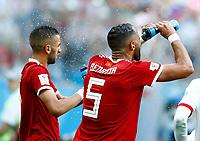 Hakim Ziyach (Morocco) and Mehdi Benatia (Morocco)<br /> Saint Petersburg 15-06-2018 Football FIFA World Cup Russia  2018 <br /> Morocco - Iran / Marocco - Iran <br /> Foto Matteo Ciambelli/Insidefoto