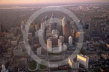 Aerial, Central Philadelphia, PA