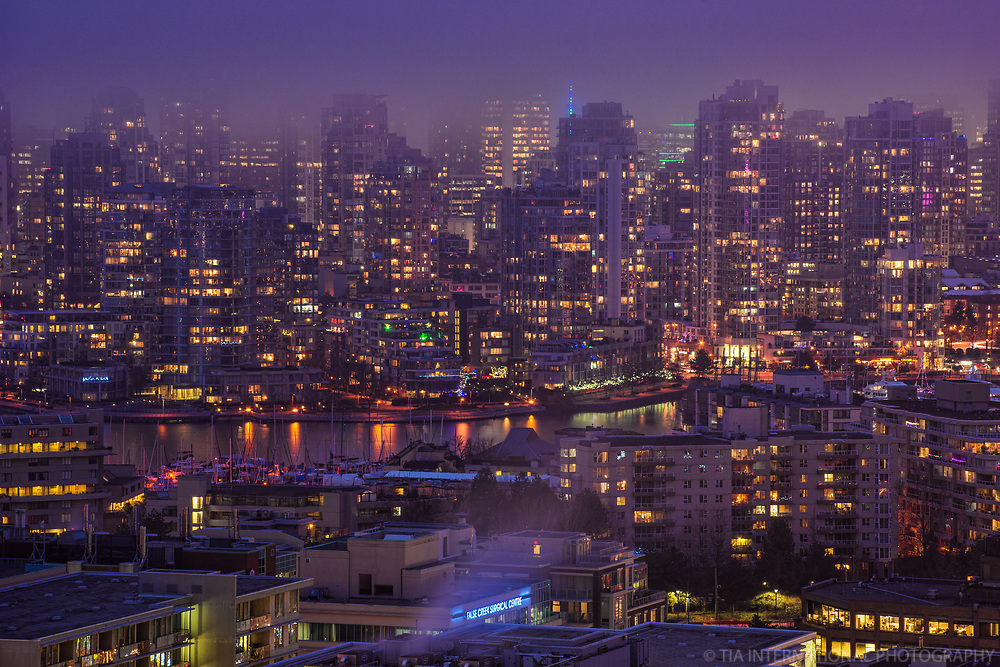 Foggy Night in Vancouver