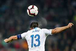 Bojan Jokic of Slovenia during football match between National Teams of Slovenia and Cyprus in Final Tournament of UEFA Nations League 2019, on October 16, 2018 in SRC Stozice, Ljubljana, Slovenia. Photo by  Morgan Kristan / Sportida
