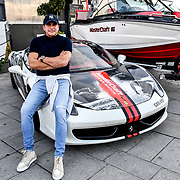 Tamer Hassan attend the Driving holiday experience hosts yacht party at The Sunborn Yacht, Royal Victoria Dock on 31 May 2019, London, UK.