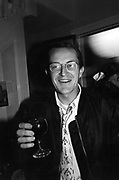 Nick Ashley with red wine 7/11/1985 ONE TIME USE ONLY - DO NOT ARCHIVE  © Copyright Photograph by Dafydd Jones 66 Stockwell Park Rd. London SW9 0DA Tel 020 7733 0108 www.dafjones.com