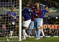 Photo: Paul Thomas.<br /> Everton v West Ham United. The Barclays Premiership. 03/12/2006.<br /> <br /> Lee Bowyer of West Ham cant believe he missed a great goal scoring chance.
