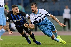 October 29, 2018 - Italy - Mauro Icardi, Francesco Acerbi during the Italian Serie A football match between S.S. Lazio and Inter at the Olympic Stadium in Rome, on october 29, 2018. (Credit Image: © Silvia Lor/Pacific Press via ZUMA Wire)