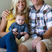 Austin Collie, NFL receiver for the Indianoplis Colts, with his wife, Brooke and son, Nash.