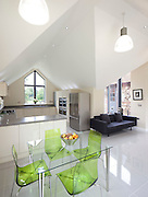 modern clean kitchen and dining area extension on a house in hertfordshire