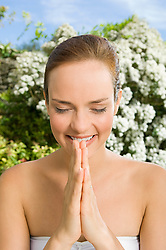 Jul. 26, 2012 - Woman praying (Credit Image: © Image Source/ZUMAPRESS.com)
