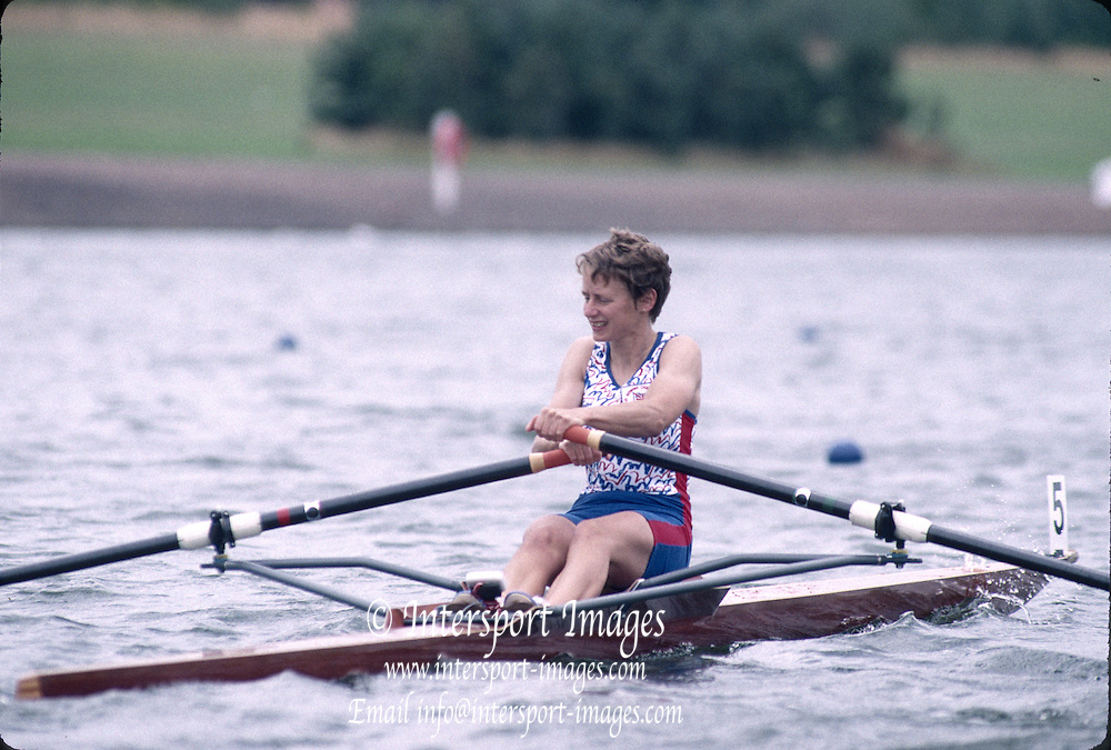 Hamilton, Scotland, GBR LW1X Sue APPLEBOOM FISA 1996 Junior and Non Olympic World Championships, Strathclyde Country Park, Rowing Course, Lanarkshire, 5/11.08.1996 [Mandatory Credit. Peter Spurrier/Intersport Images]