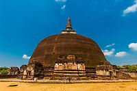 Rankot Vihara, Ruins of ancient city, Polonnaruwa, Sri Lanka.