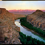 Sunset at Hot Springs Canyon, Big Bend National Park. 4x5 Kodak Ektar 100. photo by Nathan Lambrecht