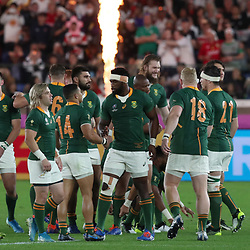Siya Kolisi (c) during the Rugby World Cup Final match between South Africa Springboks and England Rugby World Cup Final at the International Stadium Yokohama  Japan.Saturday 02 November 2019. (Mandatory Byline - Fotosport/David Gibson)