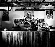 Lucky Gordon (Left) at a Rum Bar in Port Antonio - Jamaica 1978