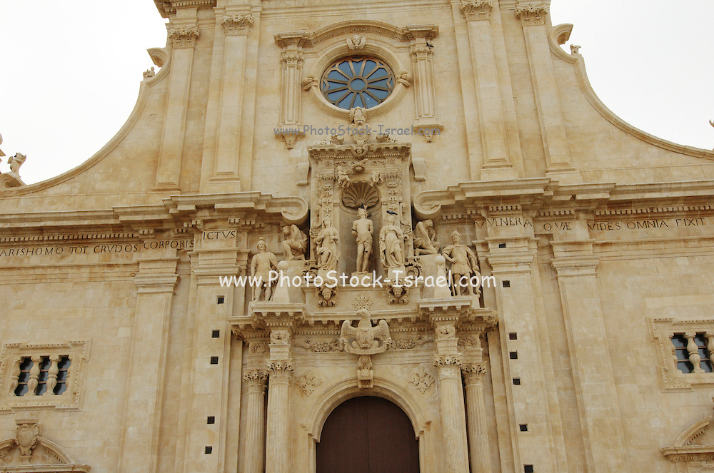 The Duomo of San Sebastiano at Ferla, Province of Siracusa, Sicily, Italy, July 2006