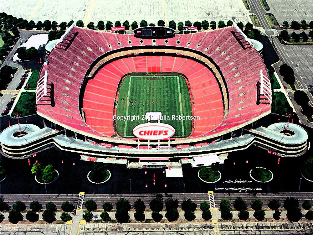 view of Arrowhead Stadium, Home of the Kansas City Royals, Kansas City,  Missouri in 1995