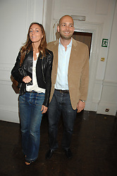 MAX WIGRAM and PHOEBE PHILO at a lunch in aid of African Solutions To African Problems held at Il Bottaccio, 9 Grosvenor Place, London on 20th May 2008.<br />