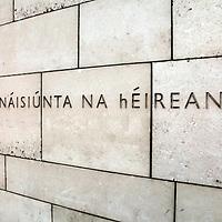 Europe, Ireland, Dublin. National Gallery of Ireland (in Gaelic)