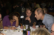 India Knight, Will Self and Pip Torrens. Charity Quiz night for Rapt ( Rehabilitation of Addicted Prisoners Trust) Town Hall. Hammersmith. 14  November 2005 . ONE TIME USE ONLY - DO NOT ARCHIVE © Copyright Photograph by Dafydd Jones 66 Stockwell Park Rd. London SW9 0DA Tel 020 7733 0108 www.dafjones.com