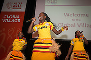 20th International AIDS Conference (AIDS 2014). International AIDS Society, at the Exhibition Centre, Melbourne, Australia. <br /> The Global Village Closing Performance.<br /> Photo: International AIDS Society/Steve Forrest