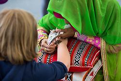 Oman Sail's hospitality tent during Kiel week 2014, 22-06-2014, Kiel - Germany.