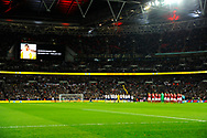 A minutes applause for Gordon Banks during the UEFA European 2020 Qualifier match between England and Czech Republic at Wembley Stadium, London, England on 22 March 2019.