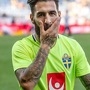 Malmö  2016 05 30 Swedbank stadion<br /> Practice game at Swedbank Stadion<br /> Sweden vs Slovenia<br /> Jimmy Durmaz<br /> <br /> <br /> <br /> ----<br /> FOTO : JOACHIM NYWALL KOD 0708840825_1<br /> COPYRIGHT JOACHIM NYWALL<br /> <br /> ***BETALBILD***<br /> Redovisas till <br /> NYWALL MEDIA AB<br /> Strandgatan 30<br /> 461 31 Trollhättan<br /> Prislista enl BLF , om inget annat avtalas.