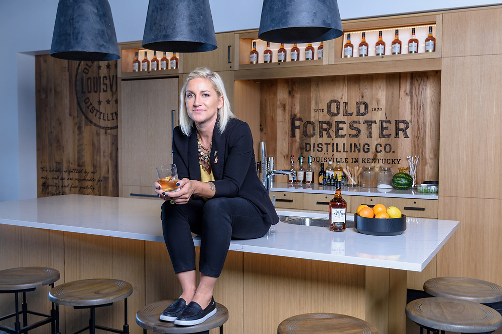 Old Forester Master Taster Jacquelyn Zykan is photographed Friday, June 8, 2018 in the Atherton Room at the soon to open Old Forester Distilling Company, on Whisky Row at 119 W Main Street in Louisville, Ky.