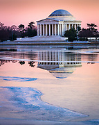 The Thomas Jefferson Memorial is a presidential memorial in Washington, D.C. that is dedicated to Thomas Jefferson, an American Founding Father and the third President of the United States. The neoclassical building was designed by John Russell Pope. It was built by Philadelphia contractor Tyler Nichols. Construction began in 1939, the building was completed in 1943, and the bronze statue of Jefferson was added in 1947. The Jefferson Memorial is managed by the National Park Service under its National Mall and Memorial Parks division