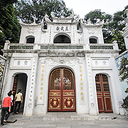 The main gate at Quan Thanh Temple in Hanoi. The Taoist temple dates back to the 11th century and is located close to West Lake. This gate is one of the more recent additions to the temple, having been added in the last major renovations in the late 19th century.