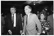 Donald Trump, John Updike. American Booksellers Trade Fair. Las Vegas. 1990. © Copyright Photograph by Dafydd Jones 66 Stockwell Park Rd. London SW9 0DA Tel 020 7733 0108 www.dafjones.com