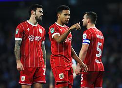 Korey Smith of Bristol City gestures - Mandatory by-line: Matt McNulty/JMP - 09/01/2018 - FOOTBALL - Etihad Stadium - Manchester, England - Manchester City v Bristol City - Carabao Cup Semi-Final First Leg