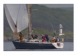 Racing at the Bell Lawrie Yachting Series in Tarbert Loch Fyne. Sunday racing was dominated by light winds...Crown Duel IRL3619 Dehler 36 Skate Island.
