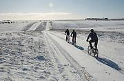 Mountain biking on Salisbury Plain in Wiltshire,England.