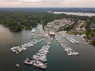 Aerial drone photo of Liberty on the Lake in Columbia, SC, by photographer Jeff Blake, www.JeffBlakePhoto.com