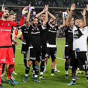 Besiktas's goalkeeper Tolga Zengin (L), Olcay Sahan (C) and Quaresma (R) during their Turkish Super League soccer derby match Besiktas between Fenerbahce at the Ataturk Olimpiyat stadium in Istanbul Turkey on Sunday, 27 September 2015. Photo by Kurtulus YILMAZ/TURKPIX