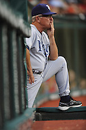 Tampa Bay Rays manager  Joe Maddon watches his team lose for the sixth straight time July 12, 2008 in Cleveland. The Rays lost their last seven games before the all-star break..