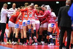 HERNING, DENMARK - DECEMBER 4: Danish team during the EHF Euro 2020 Group A match between Denmark and Slovenia in Jyske Bank Boxen, Herning, Denmark on December 4, 2020. Photo Credit: Allan Jensen/EVENTMEDIA.