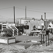 Carpenters working outside in below zero windchill.