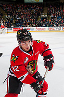 KELOWNA, CANADA - JANUARY 21: Ilijah Colina #12 of the Portland Winterhawks skates with the puck against the Kelowna Rockets on January 21, 2017 at Prospera Place in Kelowna, British Columbia, Canada.  (Photo by Marissa Baecker/Getty Images)  *** Local Caption *** Ilijah Colina;