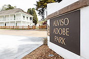 The entrance of Alviso Adobe Park photographed at Alviso Adobe Park in Milpitas, California, on March 19, 2013. (Stan Olszewski/SOSKIphoto)