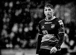 Dragons' Gavin Henson<br /> <br /> Photographer Simon King/Replay Images<br /> <br /> Guinness Pro14 Round 11 - Dragons v Cardiff Blues - Tuesday 26th December 2017 - Rodney Parade - Newport<br /> <br /> World Copyright © 2017 Replay Images. All rights reserved. info@replayimages.co.uk - www.replayimages.co.uk