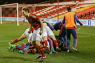 Nottingham Forest U/18   win penalty shoot out during the FA Youth Cup match between U18 Nottingham Forest and U18 Brighton at the City Ground, Nottingham, England on 10 December 2015. Photo by Simon Davies.
