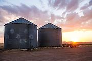 Sunrise at John Barrett's farm north of Martha, Oklahoma.