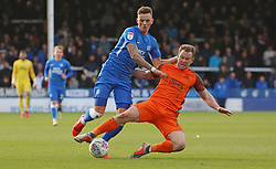 Ben White of Peterborough United in action with Simon Cox of Southend United - Mandatory by-line: Joe Dent/JMP - 23/03/2019 - FOOTBALL - ABAX Stadium - Peterborough, England - Peterborough United v Southend United - Sky Bet League One