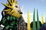 Sun Figure,Glastonbury Music Festival, Somerset, Britain - 29 June 2003.