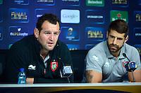 Carl HAYMAN / Sebastien TILLOUS BORDE - 01.05.2015 - Conference de presse Toulon avant la finale - European Rugby Champions Cup -Twickenham -Londres<br /> Photo : David Winter / Icon Sport